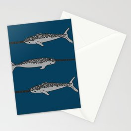 Narwhal Blessing (blue) Stationery Cards