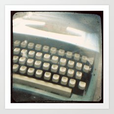Blue Typewriter TTV Art Print