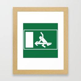 Ride On Exit Framed Art Print