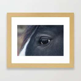 Those lashes Framed Art Print