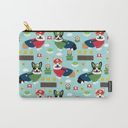 Corgi Video Game fabric - video game, cute, dog, dogs, cosplay, costume, dress up, corgi con, conven Carry-All Pouch