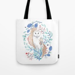 Owl in Pine Tote Bag
