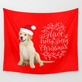 Have A Holly Jolly Christmas Wall Tapestry
