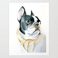 french bulldog Art Prints featuring French Bulldog by Dr.Söd