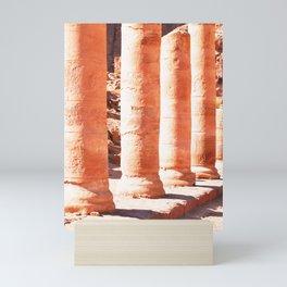 316. Old columns, Petra, Jordanie Mini Art Print