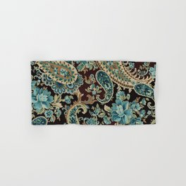 Brown Turquoise Paisley Hand & Bath Towel