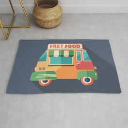 Fast Food Van Rug