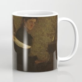 Singing a Pathetic Song Oil Painting by Thomas Eakins Coffee Mug