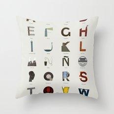 Alfabeto malagueño © Throw Pillow