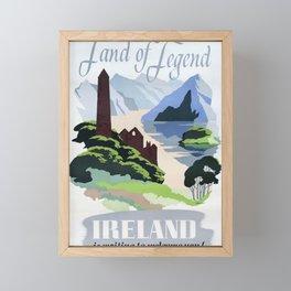 retro poster Land of Legend Framed Mini Art Print