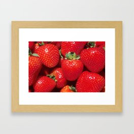 Garden Strawberries Framed Art Print