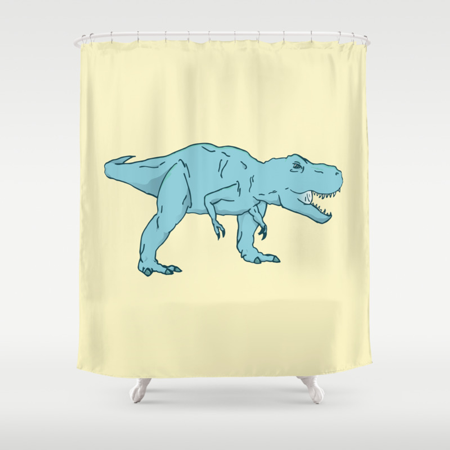 Dino T Rex Shower Curtain