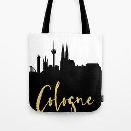 COLOGNE GERMANY DESIGNER SILHOUETTE SKYLINE ART Tote Bag