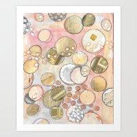 fancy Art Prints featuring fanCy by Kras Arts - Fly Me To The Moon