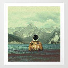 Glacier Spaceman Art Print