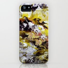 Unicorn in the magic forest, acrylic on canvas, abstract iPhone Case