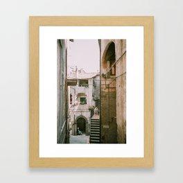 Italian Alley - Viterbo, Italy Framed Art Print