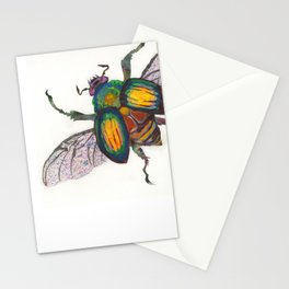 Rainbow Scarab Stationery Cards