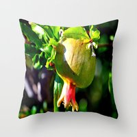 pomegranate Throw Pillows featuring pomegranate by  Agostino Lo Coco