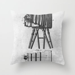 1885 Photographic camera Throw Pillow
