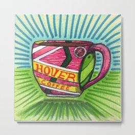 I drew you a hover mug of Coffee. (Oct.21, 2015) Metal Print