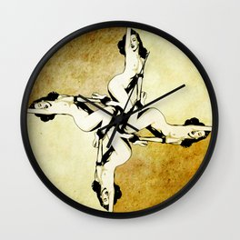 Marilyn pinwheel Wall Clock