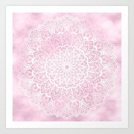 Pink Sky Mandala Art Print