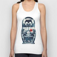 doll Tank Tops featuring Nesting Doll X-Ray by Ali GULEC