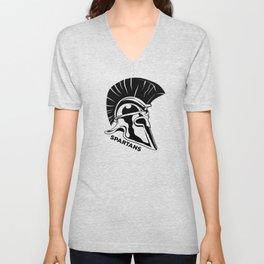 Spartans Black Unisex V-Neck