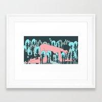 forrest Framed Art Prints featuring forrest by Regina Rivas Bigordá