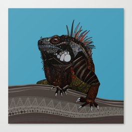 iguana blue Canvas Print