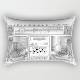 80s Boombox Rectangular Pillow