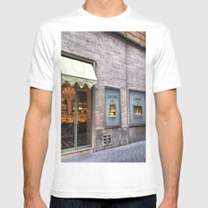 La Durée Macarons Shop White MEDIUM Mens Fitted Tee