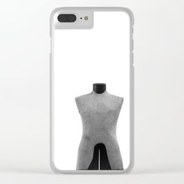 Vintage Dress Form on White Clear iPhone Case