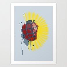 My Heart goes boom Art Print