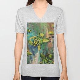 Turtles Unisex V-Neck