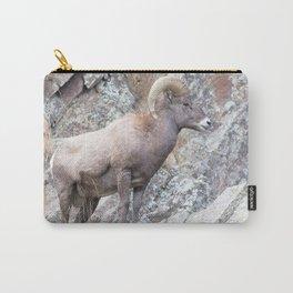 Watercolor Sheep, Bighorn Ram 53, Drake, Colorado Carry-All Pouch