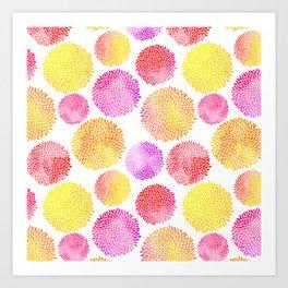 Yellow Red Purple Fireworks Art Print