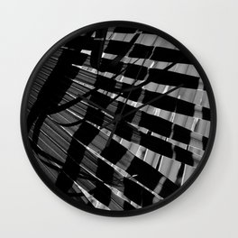 Abstract Palm Leaves 9 Wall Clock