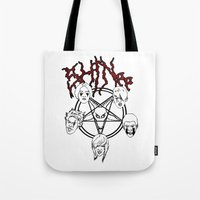 shinee Tote Bags featuring KVLT SHINee by Julia C. Elliott