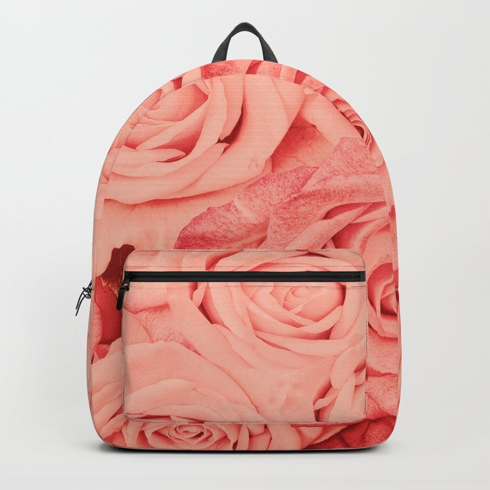 Some People Grumble - Living Coral Roses Garden Rucksack