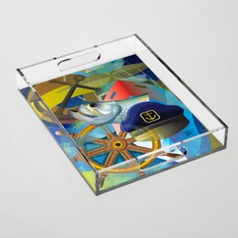 Nautical Design Acrylic Tray