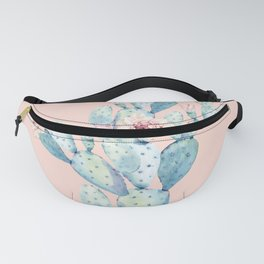 Rose Desert Cactus on Pink by Nature Magick Fanny Pack