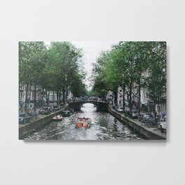 Canal Cruise Metal Print