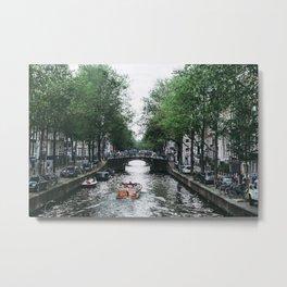 Canal Cruise Metal Print
