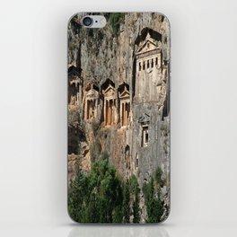 Lycian Tombs at Dalyan Close Up iPhone Skin