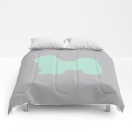 Shih Tzu Terrier (Grey/Seafoam) Comforters