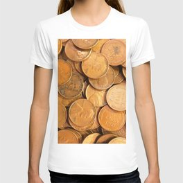 Watercolor Coins, Lincoln Wheat Pennies, 1952 01 T-shirt
