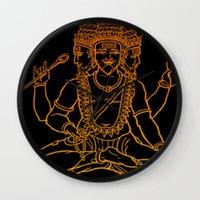 hindu Wall Clocks featuring Hindu by Littlefox