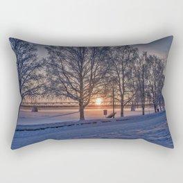 Sunset in Rovaniemi. Rectangular Pillow